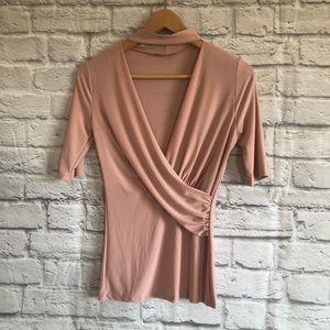 Fashion Nova Blush Pink Choker Top